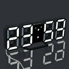 3D Large LED Wall Clock Digital Date Time Celsius Nightlight Display Table Top