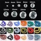 Rondelle Faceted Crystal Glass Loose Spacer Beads Lot 3mm 4mm 6mm 8mm 10mm 12mm