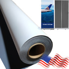 Curl-Free Block-Out Gray-Back Fabric Banner Large Format Printing Materials