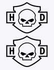 Harley Davidson Skull and Badge Vinyl Decal Stickers,Cars,Motorcycles,Trucks $2.99 USD on eBay