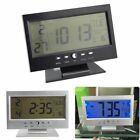 Digital Alarm Clock LCD Display Calendar Snooze Thermometer Table Home Desk LED