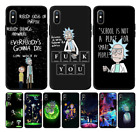 Rick and Morty Cartoon Anime Phone Case,For iPhone,Silicone Cover For iPhone