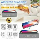 Electric LED Alarm Clock W/ Phone Wireless Charger Desktop Digital Thermo 2020
