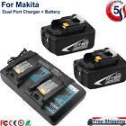 for Makita BL1850B2DC2X 18V Lithium-Ion LXT Battery and Dual Port Charger BL1860