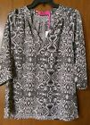 NWT MACBETH COLLECTION by Margaret Josephs 3/4 sleeve BLOUSE 2 Styles 2 Colors