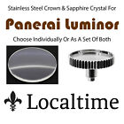 Stainless Steel Crown & Sapphire Crystal Service Replacement For Panerai Luminor
