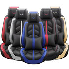 Luxury Leather Car Seat Covers 5 Seats Full Set Protector Universal Sport Style $129.99 USD on eBay