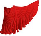 RED Chiffon 25 Yard 4 Tier Skirt Belly Dance GYPSY Ruffle Tribal Costume