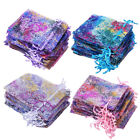 50/100 Coralline Organza Gift Bags Xmas Jewelry Pouch Drawstring Wedding Party