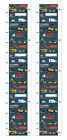 Children's Bedroom Decor Train and Fire Truck Growth Chart Vinyl Growth Chart