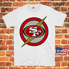 San Francisco 49ers Captain America Shields NFL Jersey T Shirt  All Sizes New $14.99 USD on eBay