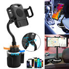 360° Adjustable Phone Mount Car Cup Holder Stand Cradle For Universal Cell Phone