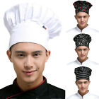 KM_ Professional Chef Hat Elastic Unisex Kitchen Cooking Baker Pleated Work Cap