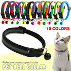 Внешний вид - Cat Dog Collar Reflective Breakaway with Bell Colorful Kitten Puppy Pet Supplies