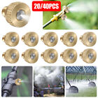 20/40 Brass Misting Nozzles Water Mister Sprinkle For Cooling System Garden Tool