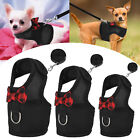 Black Adjustable Soft Harness with Elastic Leash for Rabbit Bunny Puppy Hamster
