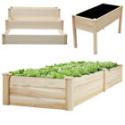 Wooden Raised Garden Bed Elevated Planter Box Flower Vegetable Stand Outdoor
