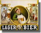 Vintage Lager Bier Beer Picture on Stretched Canvas Wall Art Décor Framed Ready