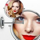 Chrome Round Silver Extending 8 inches cosmetic wall mounted make up mirror