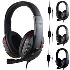 Gaming Headset Stereo Surround Headphone 3.5mm Wired Mic For PS4/Laptop/Xbox one