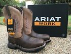 NEW Mens ARIAT Brown Leather WORKHOG Mesteno II Soft Toe Western Work Boots 8556