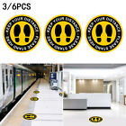 Floor Stickers 3/6PCS Keep Your Distance Round Shop High Quality Ideal