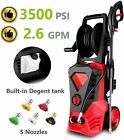 3500PSI 2.6GPM Electric Pressure Washer Home High Power Water Cleaner Machine US