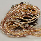 3mm Natural Freshwater Pearl Rice Loose Beads 14.5 Inch DIY