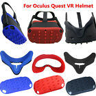 For Oculus Quest VR Helmet Protector Shell Cap Antisweat Eye Mask Cover Silicone