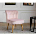 Soft Crush Velvet Chair Accent Tub Vanity Sofa Armchair Bench Bedroom Lounge New