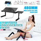 Adjustable Foldable Laptop PC Desk Table Vented Stand Bed Tray w/ Cooling Fan
