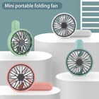 Portable Mini Hand-held Small Folding Desk Fan Cooler Cooling USB Rechargeable