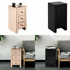 Mirrored 3 Drawers Nightstand Bedside Cabinet Sofa End Table Bedroom Furniture