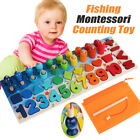 Kyпить Kids Wooden Fishing Counting Montessori Math Toys Numbers Shape Educational Toys на еВаy.соm