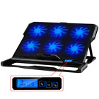 Laptop Cooling Pad Led Screen 6 Six Fan Tablet Cooler Stand Usb Inch Fans Mat Pc