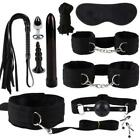 11pc Adult Sex SM Toys Handcuffs Strap Whip Rope Restraints System Set Sexy Game