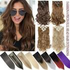 8 Pieces Clip In Hair Extensions Real Thick Full Head Hair 100% Natural as Human