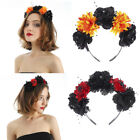 Women Gothic Rose Flower Headband Floral Crown Wreath Garland Halloween Headwear