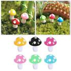 10 Stück Mini Mushroom Miniaturen Set Fairy Garden Dekor Ornament Z6w3 G8q6
