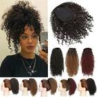 Large Kinky Curly Drawstring Ponytail One Piece Clip In Hair Extension for Human