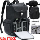 M8 Large Black Canvas Camera Bag Backpack For Canon Nikon Sony Leica Pentax SLR