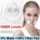 Reusable Clear Face Masks&10xfilters Anti-droplets Respirator Face Mouth Mask Us