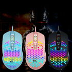 Optical 6400DPI USB Wired Honeycomb Hollow Mouse RGB Backlight Gaming Gamer Mice