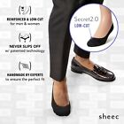 Sheec SECRET 2.0 LOW-CUT. Men's No-Show Socks for Dressy, Loafer & Boat Shoes.