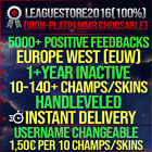 League of Legends Account LOL EUW Unranked Lvl 30 All Champs Smurf BE Skins Acc <br/> 5000+ Feedbacks! Handleveld! +1,50€ per 10 Champs Sale!