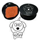 Acrylic Round Rubber Stamps Cute Doggy Impression Stamps Card Meking Decorative