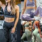 Women 2pcs Yoga Suit Gym Set Bra Leggings Fitness Pants Seamless Sports Outfits