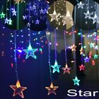 LED Droop Fairy String Lights Curtain Outdoor Icicle Christmas Tree Star Decors