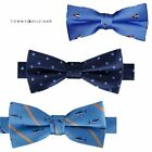 NWT TOMMY HILFIGER Boys Pre-Tied Blue Printed Bow Tie One Size 8-20