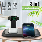 3in1 QI Wireless Charger Charging Station Dock for Apple Watch iPhone 12/X/XR/XS